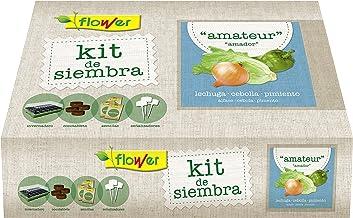 Flower 51177 51177-Kit semillas amateur (lechuga romana, cebolla ...