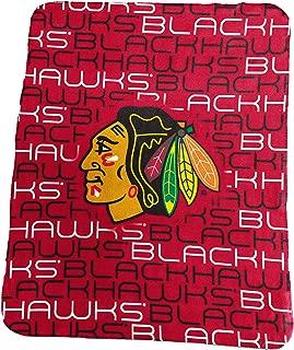 Logo Brands NHL Chicago Blackhawks Classic Fleece Blanket, Red, 50