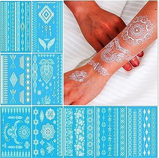 Weiße Temporäre Tattoos Tätowierung Für Frauen Teens Gir