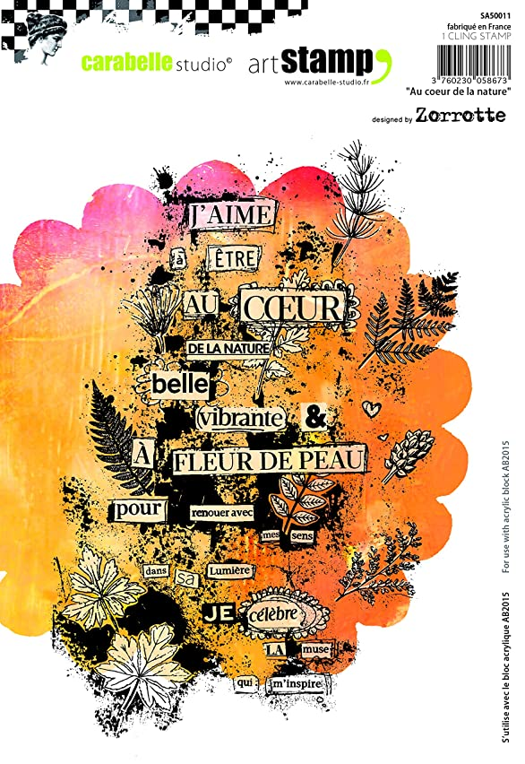 Carabelle Studio A5 Unmounted Stamp Set - Au Coeur De La Nature by Zorrotte