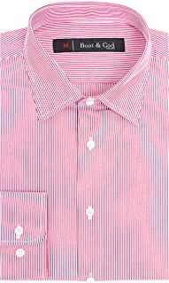Boot & Cod Men's Shirts - Fitted Long Sleeve Button Down Dress Shirt Men - Slim Fit