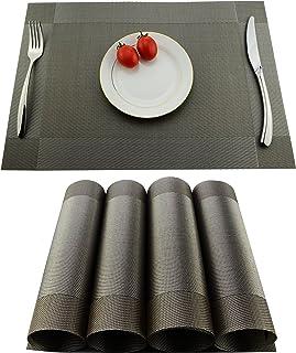 KoKaKo Lot de 4 sets de table en PVC, antidérapants et lavables, résistants à la chaleur et aux salissures, Fibres synthét...