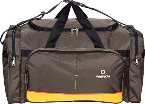 Waterproof Polyester Lightweight Black Yellow Green Duffle Soft Sided 80L Travel Duffel Bag