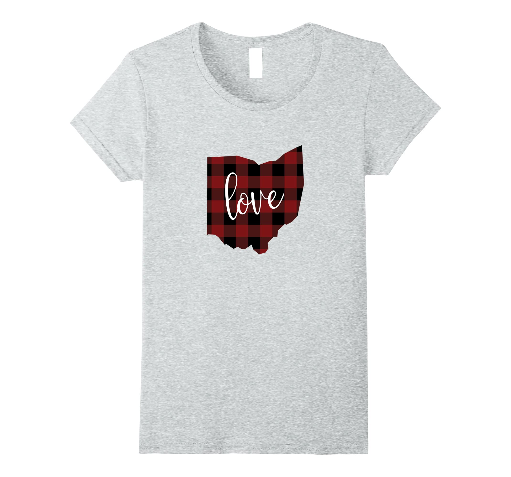 OH Love Buffalo Check Tshirt-Tovacu