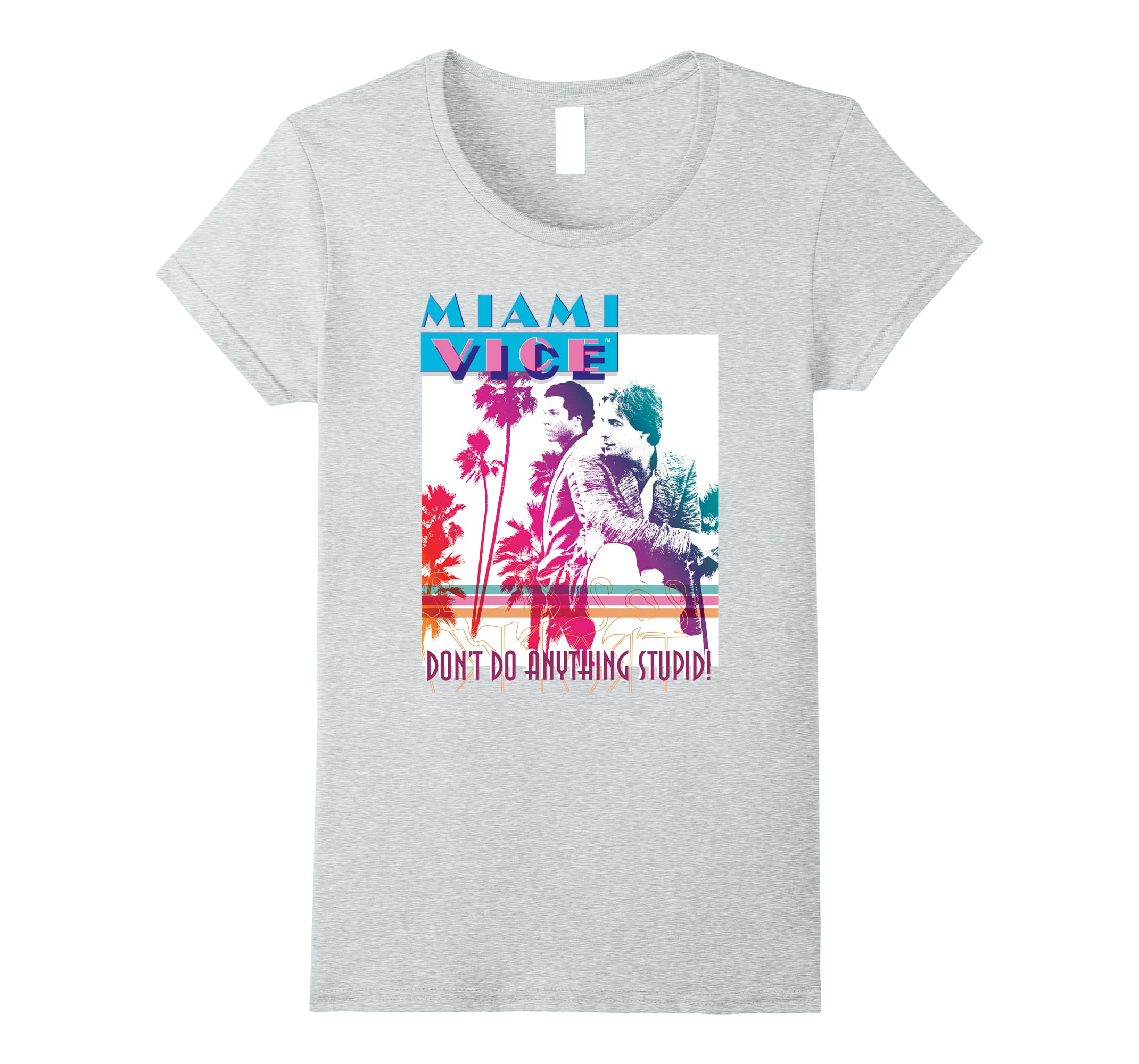 Miami Vice Don't Do Anything Stupid T Shirt-Protee