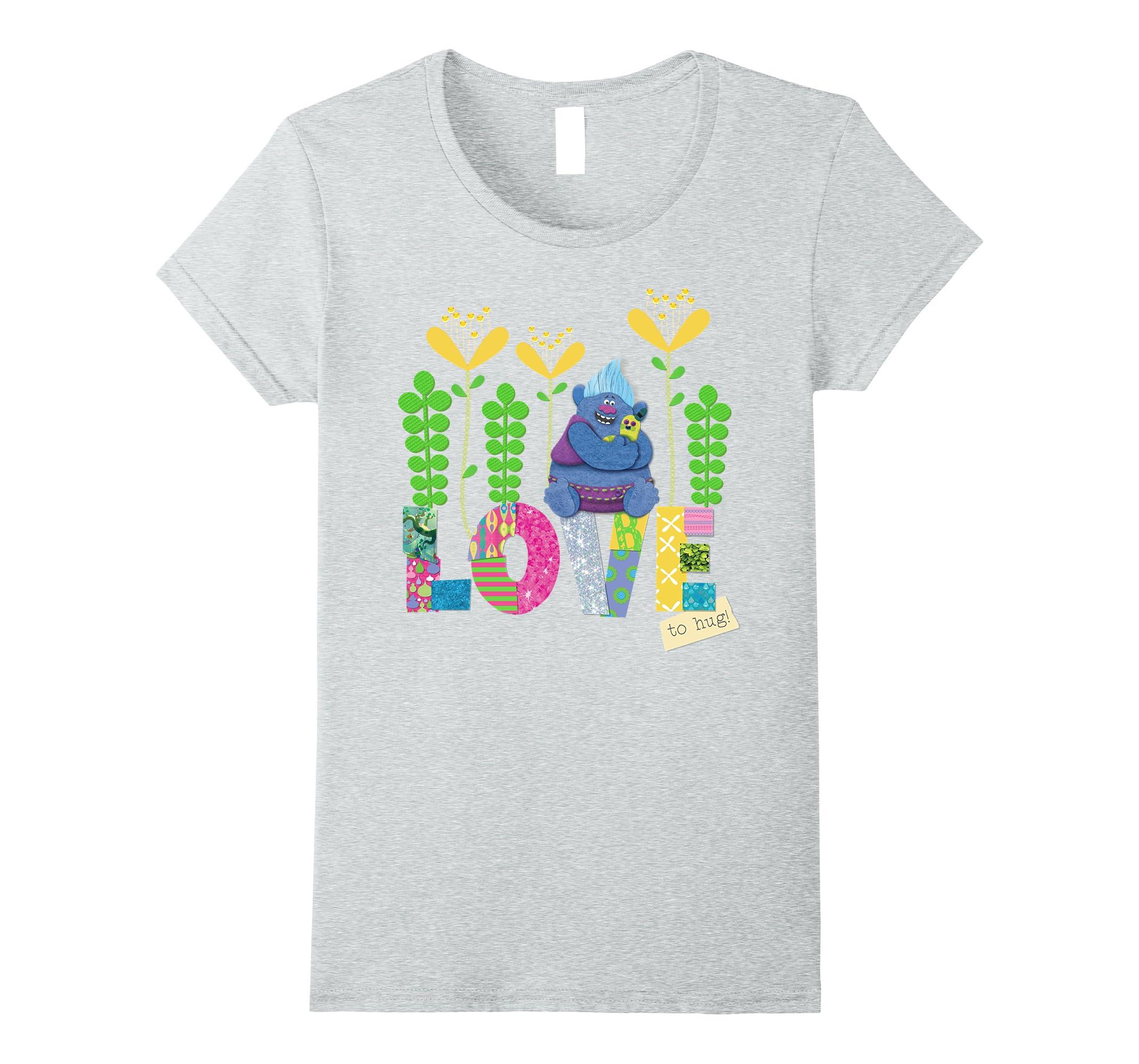 4326602f7047 Amazon.com: DreamWorks' Trolls Love to Hug Biggie T-Shirt: Clothing