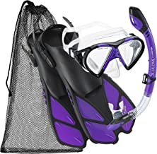 Cressi Adjustable Mask Fin Snorkel Set with Carry Bag