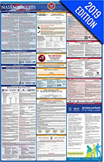 2019 Massachusetts Labor Law Poster – State, Federal, OSHA Compliant – Single Laminated Poster