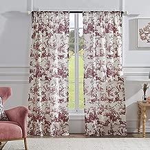 Greenland Home Classic Toile Window Curtain Set, 84