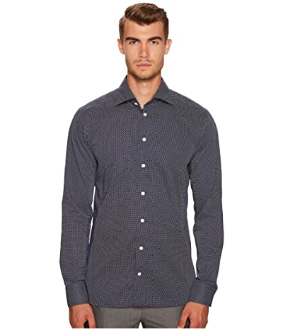 Eton Slim Fit Signature Dot Shirt (Navy/White) Men