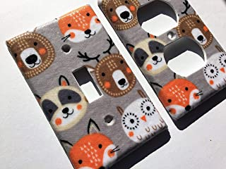 Fox Light Switch Plate Cover Various Sizes Offered
