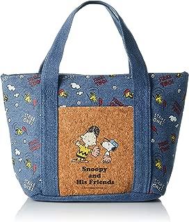 SKATERS (SKATER) Cold denim cork pocket bag Snoopy PEANUTS KBCO3