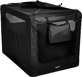 AmazonBasics Premium Folding Portable Soft Pet Dog Crate Carrier Kennel - 42 x 31 x 31 Inches, Black