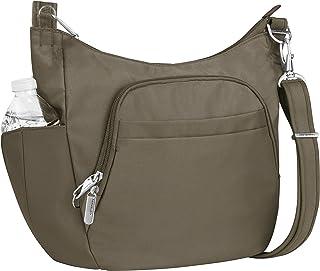 Travelon Anti-theft Classic Crossbody Bucket Bag, Nutmeg