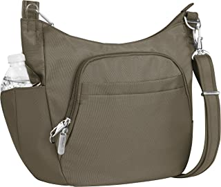 Travelon Anti-theft Classic Crossbody Bucket Bag, Nutmeg
