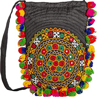 Handmade Designer Embroidered Ladies Purse | Color - Black | Exclusively From Kutch Gujarat