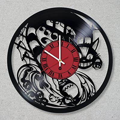 Vinyl Record Wall Clock Ghibli Studio Totoro Catbus Spirited Away Manga unique decor gift ideas for