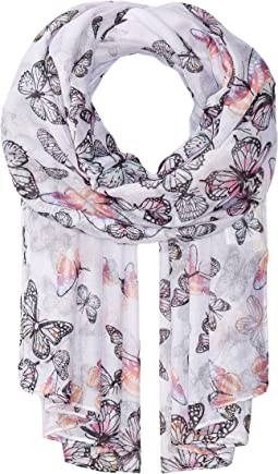 BSS1735 Woven Scattered Butterfly Print
