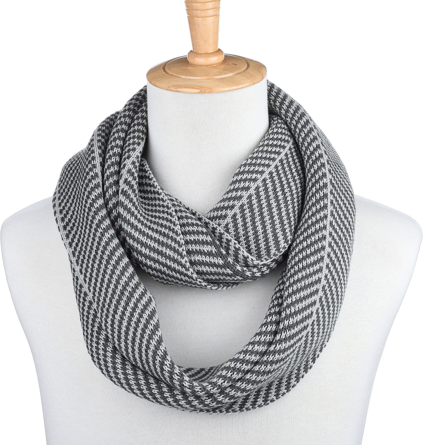 Gallery Seven Winter Scarf for Men, Soft Knit Scarves, in an Elegant Gift Box - Gray - One Size