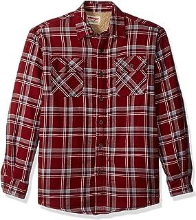 4c0db0b47bc Wrangler Mens Authentics Long Sleeve Sherpa Lined Flannel Shirt Button Down  Shirt