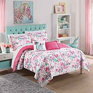 Waverly Kids 16440BEDDTWNPNK Reverie 86-inch by 68-Inch Reversible Twin Bedding Collection, Pink