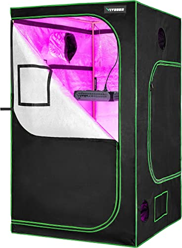 """lowest VIVOSUN 48"""" X48"""" high quality X 80"""" Hydroponic Grow Tent + 600W LED Grow Light for Indoor Plants high quality Veg and Flower online sale"""