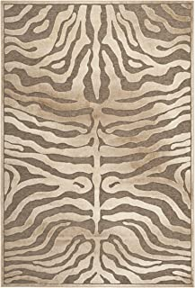 Safavieh Paradise Collection PAR83-603 Brown and Cream Viscose Area Rug (5'3