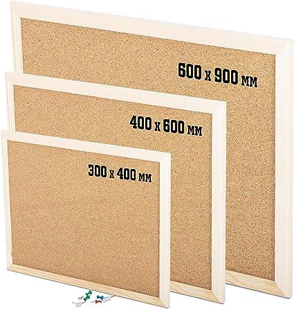 Cork Message Notice Board for Office Memo School DIY Home Decoration Cork Board Pin Message Notice Board Wooden Frame Office Memo Pinboard 40 x60 cm