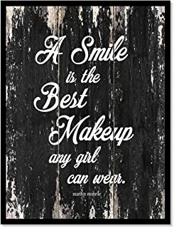 SpotColorArt A A Smile is The Best Makeup Framed Canvas Art, 7