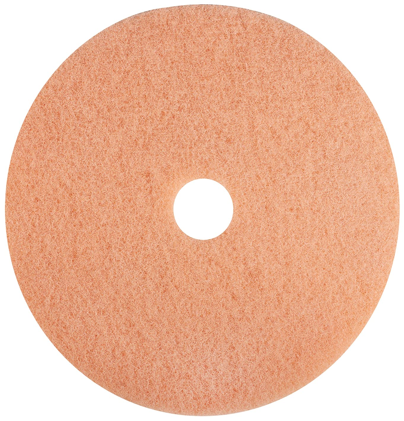 Glit 25524 TK Polyester Blend Coral Pre-Burnishing Pad, Synthetic Blend Resin, Talc Grit, 24