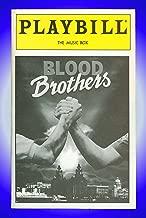 Blood Brothers, Broadway Playbill + Stephanie Lawrence , Brian d'Arcy James, Kerry Butler, Barbara Walsh, Warwick Evans, Ivar Brogger