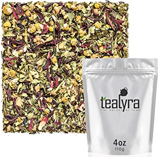 Tealyra - Bloat Be Gone - Guayusa - Hibiscus - Fennel -Chamomile - Wellness Loose Leaf Tea - Digest - Detox - All Natural - 112g (4-ounce)
