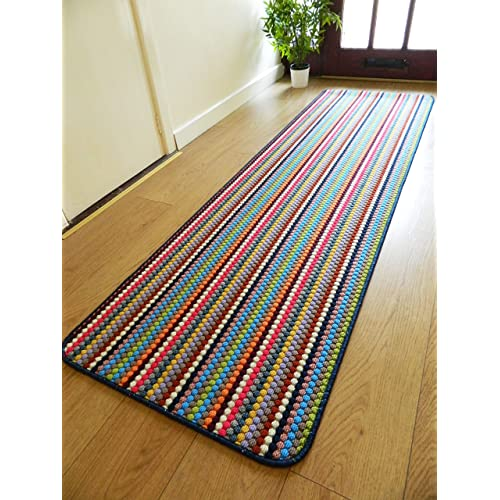 Rugs Superstore NEW MULTI COLOURED MODERN WASHABLE NON SLIP KITCHEN UTILITY HALL LONG RUNNER DOOR MAT
