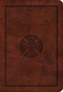 ESV Large Print Compact Bible (TruTone, Brown, Mosaic Cross Design)