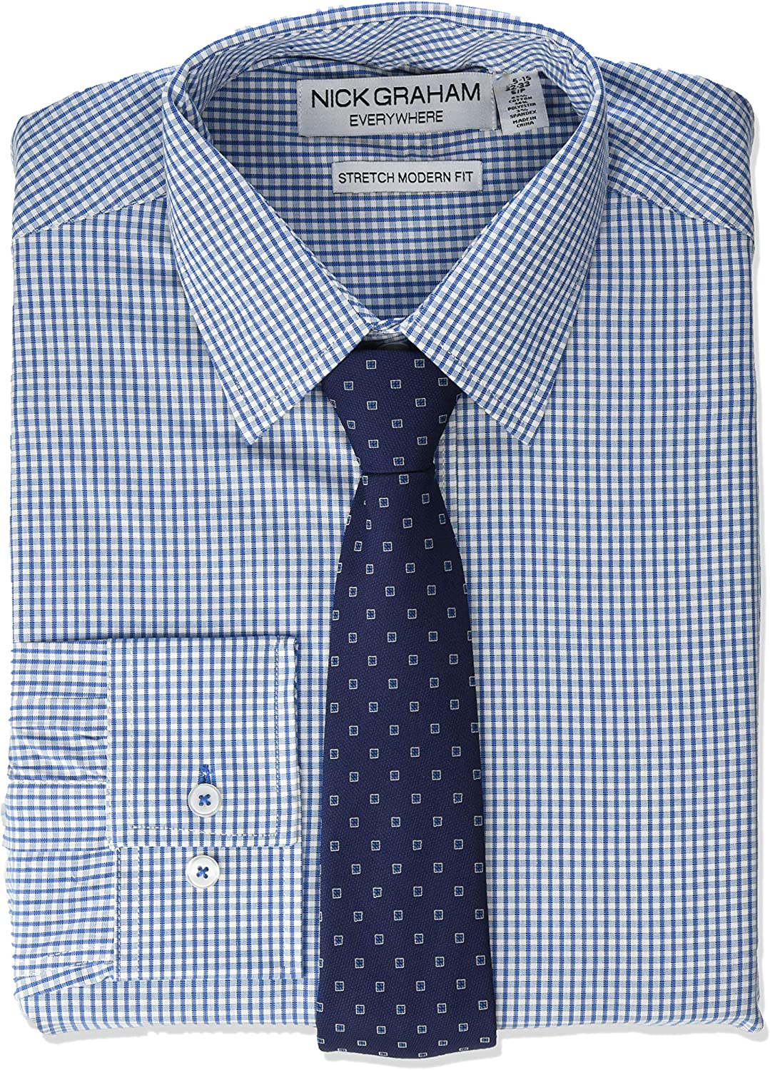 Max 82% OFF Nick Ranking TOP12 Graham Men's Stretch Modern Fit Dress Gingham Dot Shirt and
