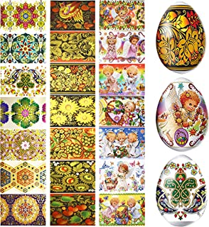 Lot 3 Thermo Heat Shrink Sleeve Decoration Easter Egg Wraps Pysanka Pysanky - for 21 Easter Eggs