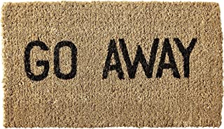 Kempf Go Away Doormat, 16 by 27 by 1-Inch, Funny Entrance Mat, Natural Coco Coir Fiber, No Rubber Backing