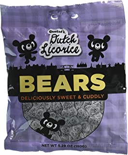Gustaf's Sugar Licorice Bears 5.2 Oz Retail Bag