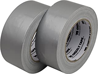 """Grizzly Brand Professional Grade Duct Tape, 2-Pack, Silver Color, 11mil Thick, 1.88"""" Wide x 30 Yards, 2 Rolls - Ideal for ..."""