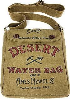 American Glory Unisex Vintage look Canvas Desert Crossbody Handbag