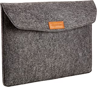 AmazonBasics 15.4 Inch Felt Macbook Laptop Sleeve Case - Charcoal