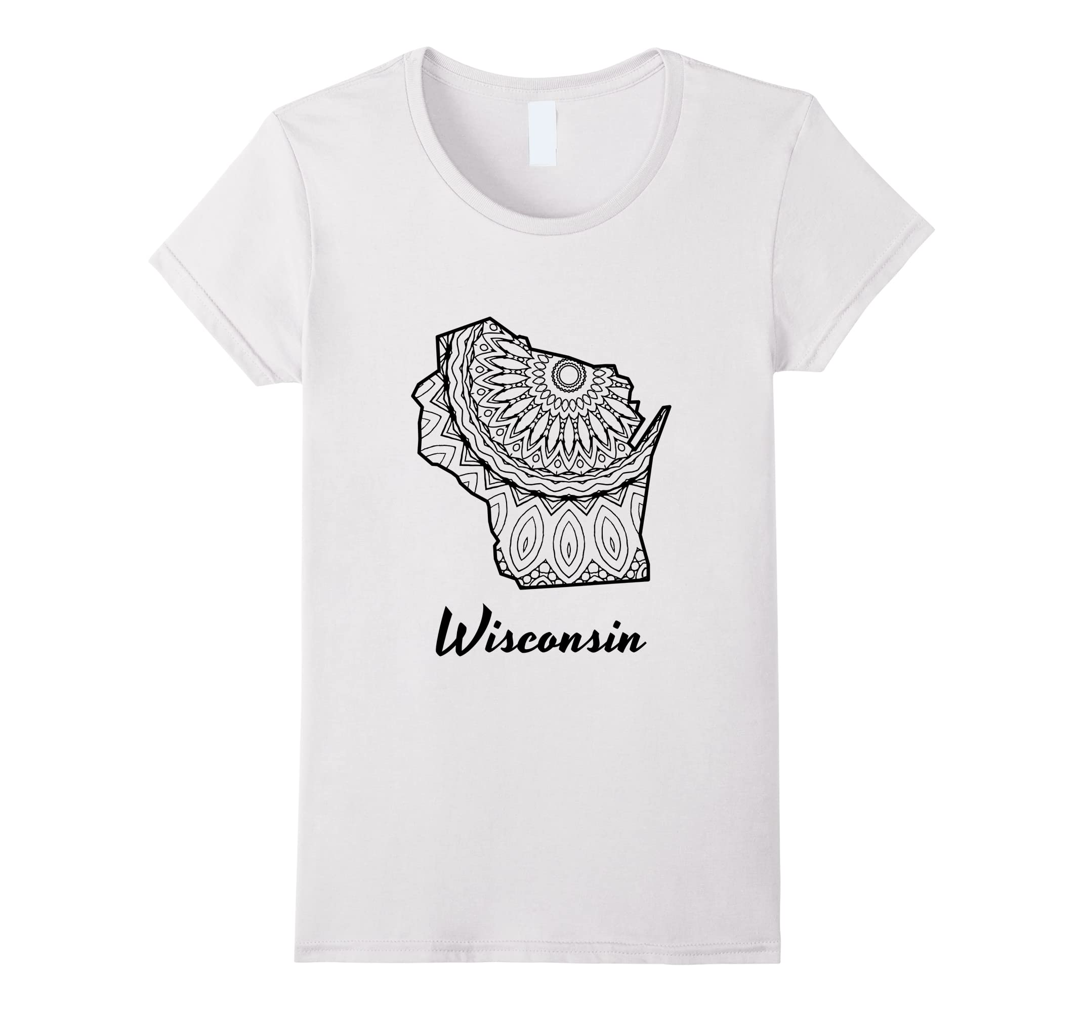 Wisconsin Home State T shirt Coloring-Samdetee