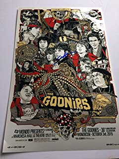 Sean Astin autographed 11x17 Metallic photograph Mikey The Goonies Movie Poster