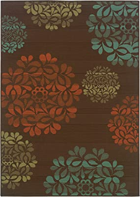 Christopher Knight Home CK-B5334 Bermuda Floral Indoor//Outdoor Area Rug 7ft 10in X 10ft 10in Grey,Blue