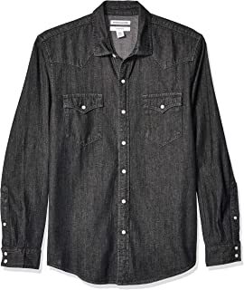 Men's Slim-fit Long-Sleeve Denim Shirt