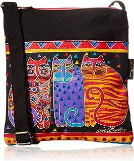 Laurel Burch Crossbody Purse Zipper Top, 10 by 10-Inch, Feline Friends
