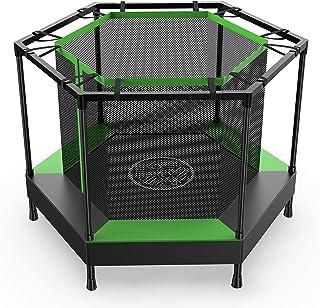 AOKCOSトランポリン 屋内用 ネット付き 子供用 静音 防音 幅直径122cm 6本脚 トレーニング 運動力アップ フィットネス