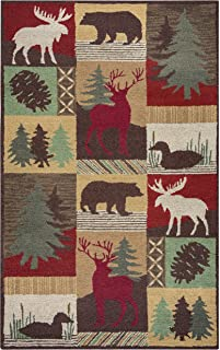 Rizzy Home Country Collection Wool Area Rug, 8' x 10', Multi/Gray/Rust/Blue Cabin