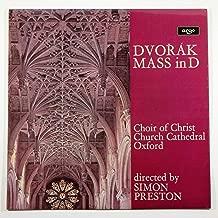 Dvorak: Mass in D Major / Choir of Christ Church Cathedral Oxford / Simon Preston / Neil Ritchie, Treble