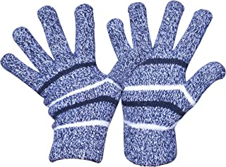Easyoulife Womens Winter Gloves Fleece Lined Thick Warm Wool Knit Mittens Unisex